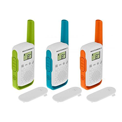 Motorola T42 Talkabout PMR446 2-Way Walkie Talkie Portable Radio's (One Pack of 3), Green