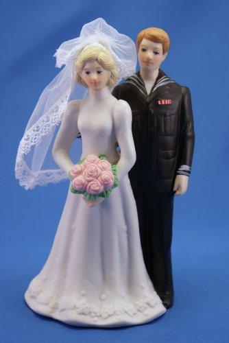 Navy-Figurine-Wedding-Cake-Topper