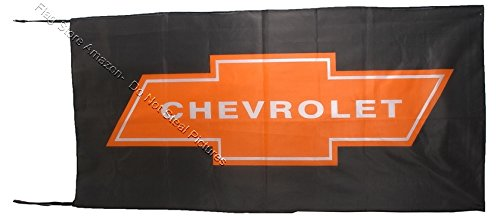 CHEVROLET FLAG BANNER BLACK 2.5 X 5 ft Flags & Banners Incorporated