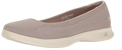 Skechers Performance Women's Go Step Lite-Solace Walking Shoe, Taupe, 8 M US (Lite Mesh Womens)
