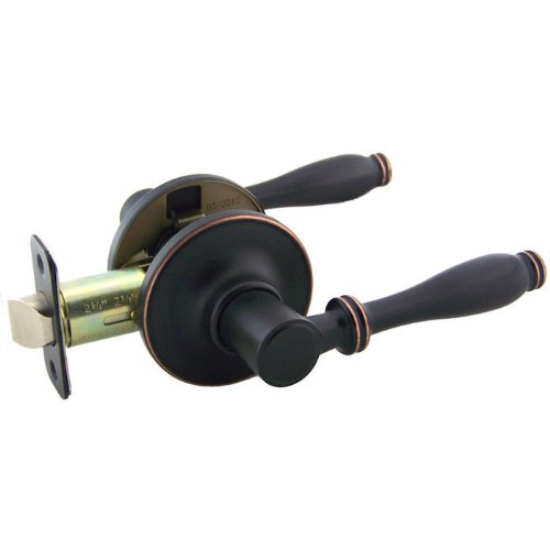 Designers Impressions Villa Design Oil Rubbed Bronze Passage Door Lever (Hall & Closet)
