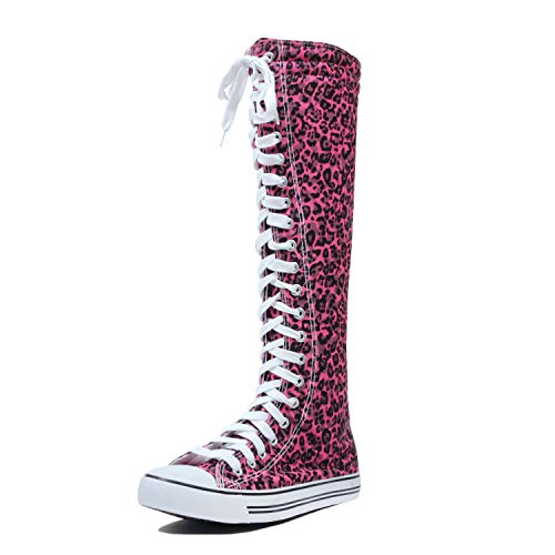 West BLVD Sneaker Boots Fuchsia Leopard, 9