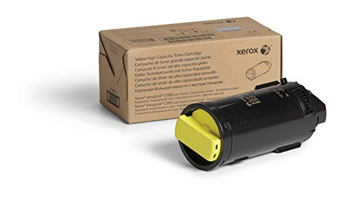 Genuine Xerox Yellow High Capacity Toner Cartridge (106R03865) - 5,200 Pages for use in VersaLink C500/C505 ()