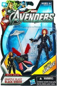 Hasbro Marvel Avengers Movie 4 Inch Action Figure Grapple Blast Black Widow Grapple -