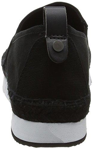 Donna da Calvin Klein Nero Black R3768blk Scarpe Canvas Ginnastica Genna Basse 070Ip