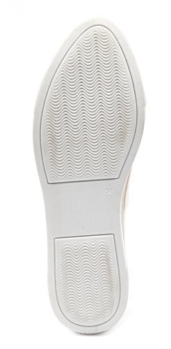 Fashion Moda Sneakers US Mujer Zapatillas BOBERCK para de Coleccion Krista Beige 8 UfxE1g