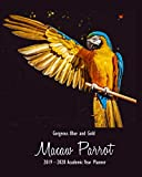 Gorgeous Blue and Gold Macaw Parrot 2019 - 2020 Academic Year Planner: Weekly Monthly Agenda Calendar Organizer and Engagement Book