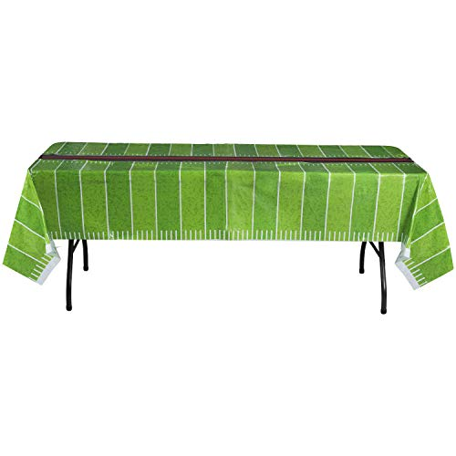 Football Party Table - Hammont Disposable Plastic Table Cover (Pack of 4) - Football Party Supplies (54