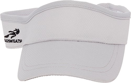 - Headsweats Performance Sport Velocity Visor Hat (Light Grey)