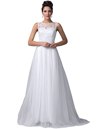 White Prom Gown Bridesmaid Dresses for Beach Wedding Size 14
