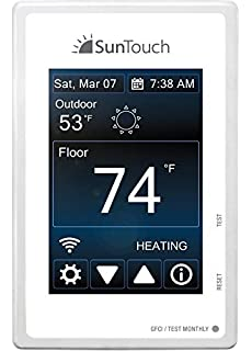 SunTouch Connect WiFi enabled Touchscreen Programmable Thermostat [universal] Model 500875 (low-profile
