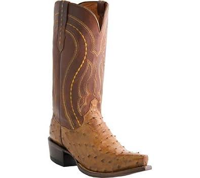 9e689236fd1 Lucchese Men's Handmade 1883 Montana Full Quill Ostrich Western Boot Snip  Toe - M1606 74