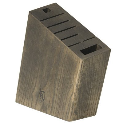 Shun DM0839 Angled Knife Block, Brown