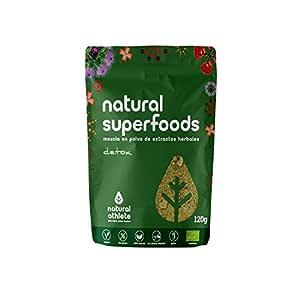 Superfood Detox - Natural Athlete - Extra de energía - 100% Natural - BIO - Sin Gluten- Sin Lactosa - Sin Azúcar añadido. 120g