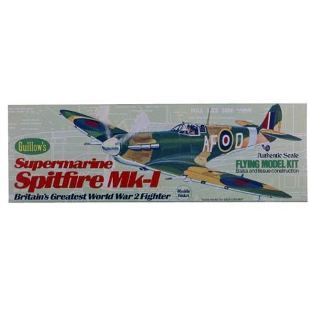 Guillow's Spitfire Model Kit - Flying Model Airplane Kits