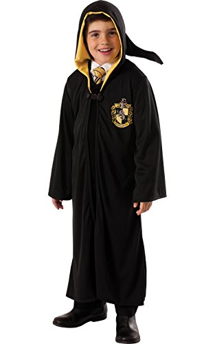 Harry Potter Hogwarts Robes (Rubie's Costume Harry Potter Deathly Hallows Child's Hufflepuff Robe, One Color, Large)