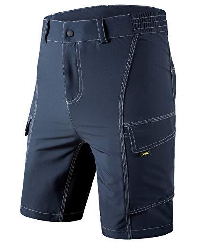 Men's Cycling Shorts Bike Bicycle MTB Mountain Bike Shorts Loose Fit Cycling Baggy Cycle Pants (Grey, M) ()