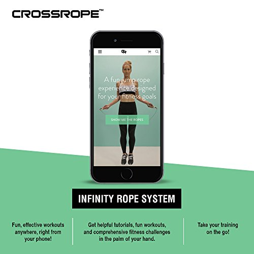 Crossrope Jump Rope Get Lean Set Fitness & Jogging Speed Rope and Strength Rope