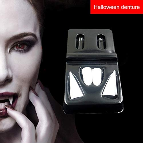Enjoyment Halloween Party Cosplay Prop Vampire Tooth Teeth Fangs Dentures Props DIY Halloween Costume Props Horror Halloween for Halloween Vampire Party,4 size to Choosen -