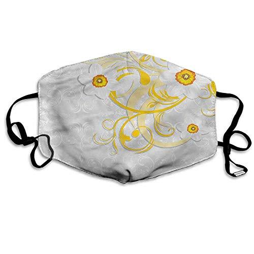 Daffodil Ornament - Daffodil Fashion Mouth Mask Daffodils Ornaments Art for Cycling Camping Travel W4