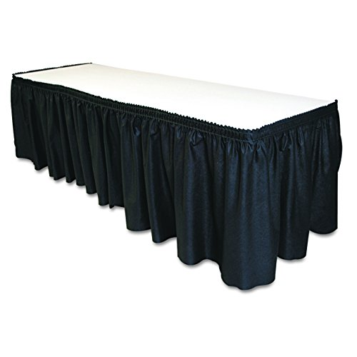 Tablemate TBLLS2914BK Disposable Linen-Like Table Skirt, Self-Adhesive, 29
