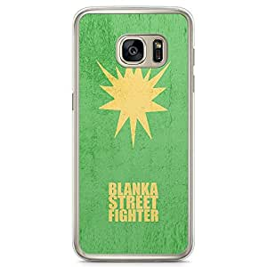 Loud Universe Blanka Street Fighter SamsungS7 Edge Case Minimal Street Fighter SamsungS7 Edge Cover with Transparent Edges
