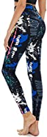 TNNZEET High Waisted Pattern Leggings for Women - Buttery Soft Tummy Control Printed Pants for Workout Yoga