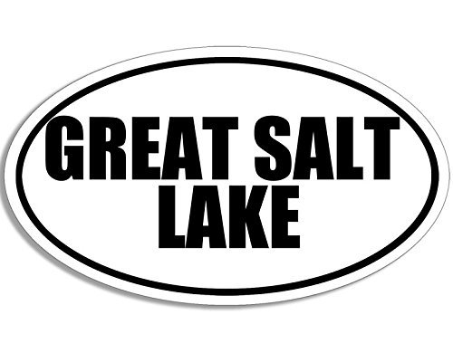 MAGNET B/W OVAL Great Salt Lake Magnetic Sticker (national - Crossings Great Lake
