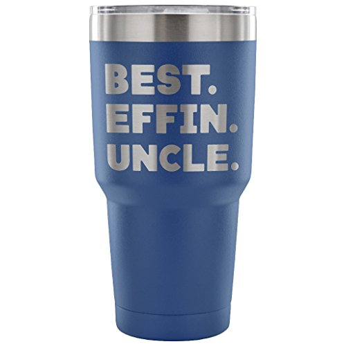 ArtsyMod BEST EFFIN UNCLE Premium Vacuum Tumbler, PERFECT FUNNY GIFT for Favorite Uncle from Niece, Nephew! Humorous Gift, Attractive Water Tumbler, 30oz. (Blue) - Prince Eric Baby Costume