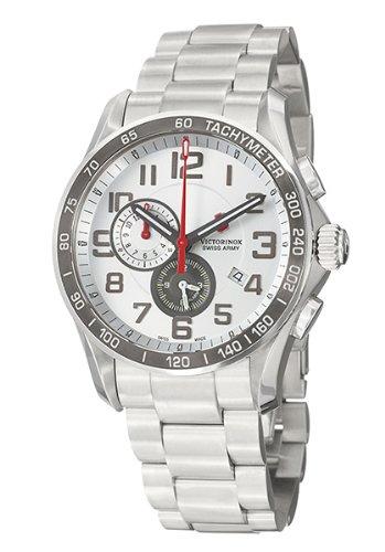Victorinox Swiss Army Chrono Classic - Reloj de caballero de cuarzo, correa de acero inoxidable