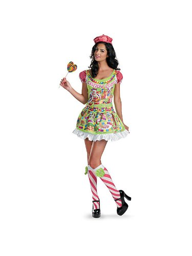 Lollipop Girl Costumes Adults (Deluxe Candyland Women's Costume)