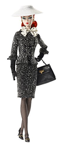 - Barbie Black & White Tweed Suit Barbie Doll