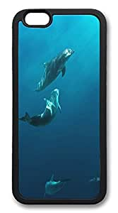 ACESR Dolphins New iPhone 6 Case TPU Back Cover Case for Apple iPhone 6 4.7inch Black