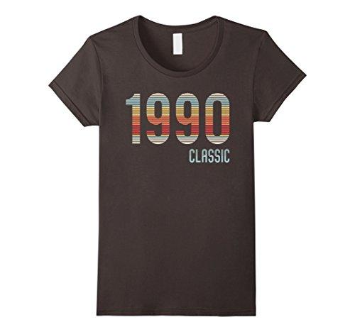 1990's Halloween Costume Idea (Womens 27th Birthday Funny Tshirt, 1990 Classic Shirt, Gift Idea XL Asphalt)