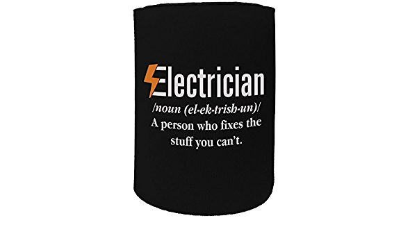 123t Stubby Holder Stubbie Holders Cooler Electrician Meaning Sparky Funny Novelty Birthday Gift JOK