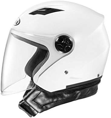 NJ ヘルメット- オートバイのヘルメットの男性と女性の四季HD抗霧のヘルメット (色 : 白, サイズ さいず : 31x23cm)