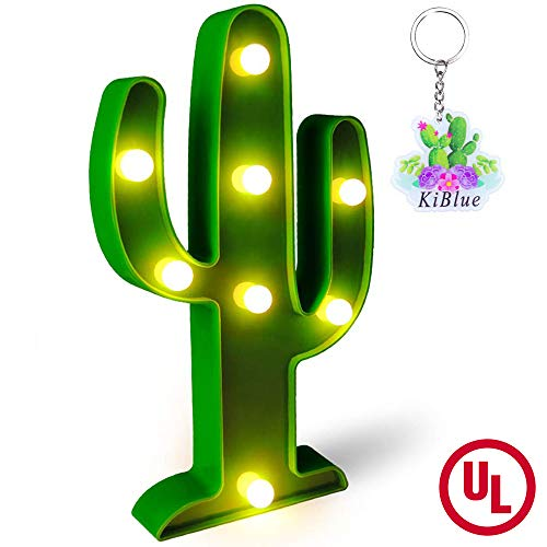 KiBlue Cactus Decor Cactus Light Cactus Party Decoration Gift Party Cute Cactus Table Lamp  Battery Operated for Desk,Bedroom,Wall Decoration,Baby Shower,Kids' Room,Living Room,Home Decorations]()