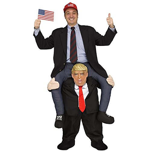 Carry Ride On Me Adult Trump President Costume