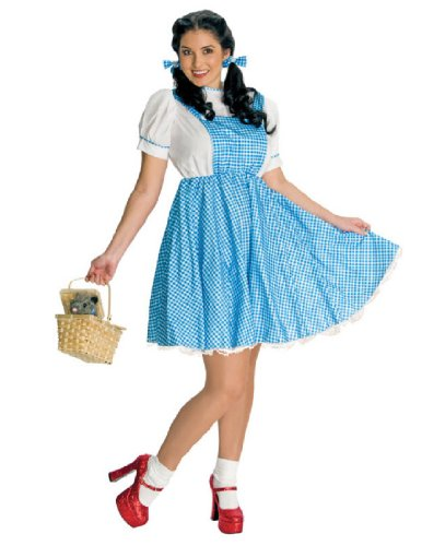 Wizard Of Oz Secret Wishes Dorothy Costume, Blue And White, Adult Plus