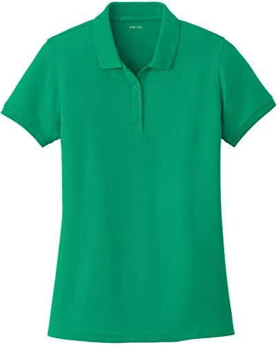 Joe's USA Ladies Core Classic Pique Polos in Sizes XS-6XL