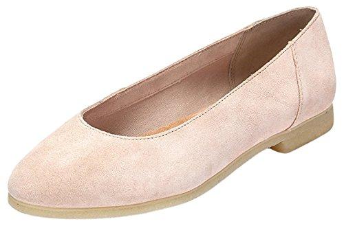 Clarks Women's Ffion Ivy Cold Lined Ballet Flats Pink (Light Pink) xmQdQt