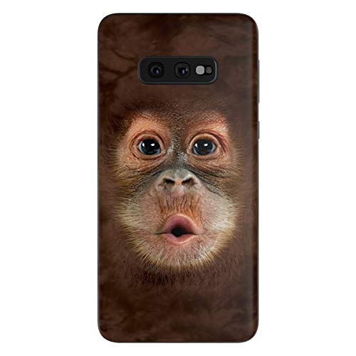 Orangutan Protective Decal Sticker for Samsung Galaxy s10e - Scratch Proof Vinyl Skin Wrap Thin Edge Line Cover and Made in USA
