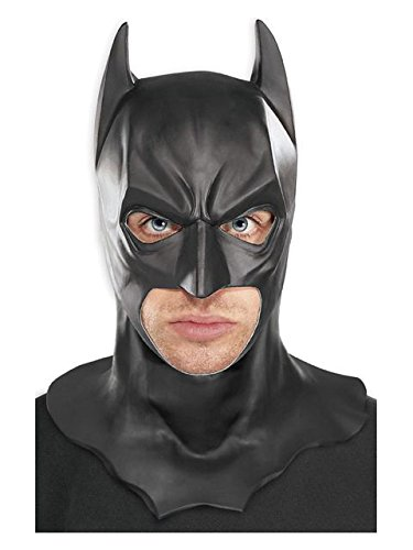 Rubie's Costume Batman The Dark Knight Adult Batman Full Overhead Latex Mask  Black  One Size