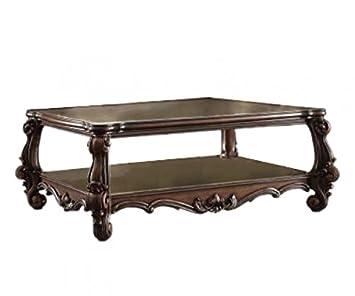 Major-Q 9082120 European Luxirious Cherry Oak Finish Wooden Top Antique Coffee Table