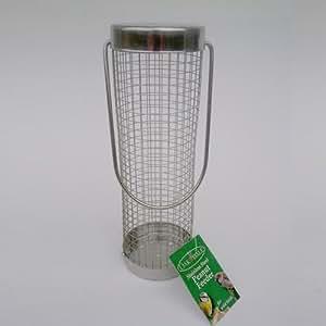 Alimentador del pájaro de acero inoxidable de cacahuete