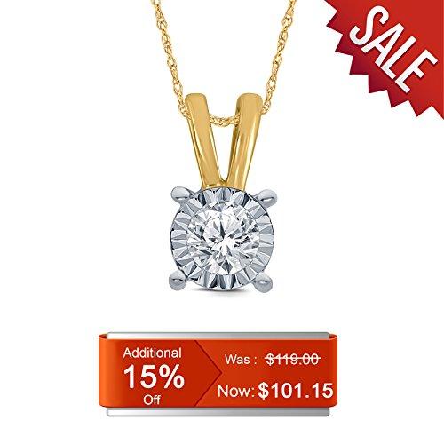Round Egl Diamond Pendant - 1