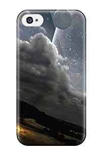 High Grade ZippyDoritEduard Flexible Tpu Case For Iphone 4/4s - Unending Skies Landscape Sci Fi People Sci Fi
