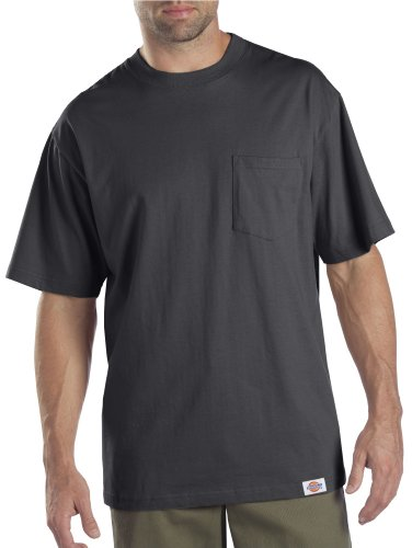 (Dickies Men's Short Sleeve Pocket T-Shirt 2-Pack, Charcoal, 2X)