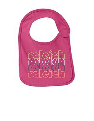Raleigh North Carolina Retro Funny Infant Jersey Bib Sangria One Size ()