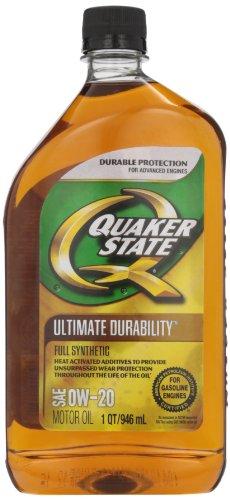 (-6PK) 0W-20 Ultimate Durability Full Synthetic Motor Oil (GF-5) - 1 Quart, (Pack of 6) - Quaker State 550024141
